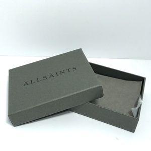 "ALL SAINTS Wallet Empty Gift Box 3.5""x4.5"" in"